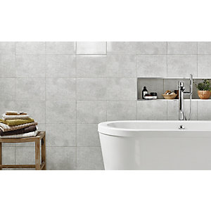 kitchen wall tiles cabinet showrooms wickes tivoli grey ceramic tile 330 x 250mm co uk