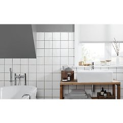 Kitchen Wall Tiles Utensil Wickes White Ceramic Tile 150 X 150mm Co Uk