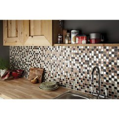 Mosaic Kitchen Tile Natural Cleaner Tiles Decorative Wickes Co Uk Autumn Glass Stone 300 X 300mm