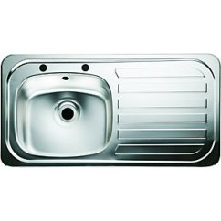 Stainless Kitchen Sinks Backsplash Installation Steel Single Double Bowl Kitchens Wickes Co Uk 1 Sink Right Hand Drainer