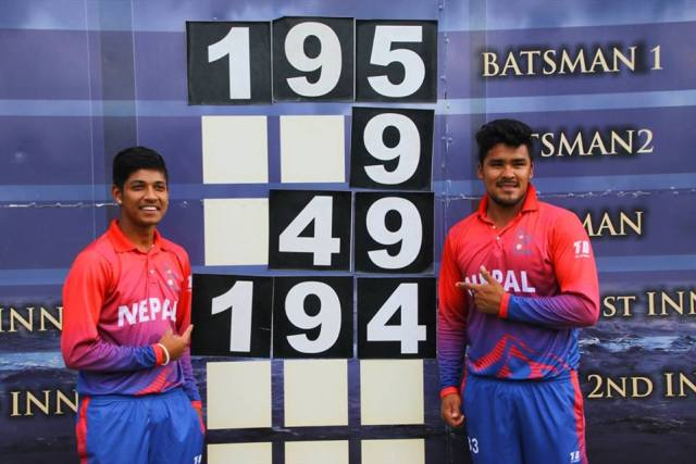 Sandeep Lamichhane and Karan KC