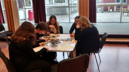 Our budding writers at today's Moniack Mhor workshop.
