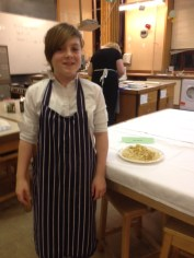 Cobi with her finished dish