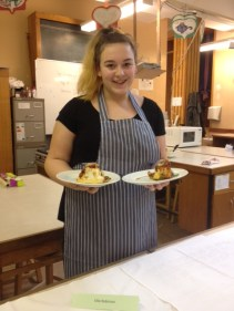 Proud Ellie with her prizewinning food