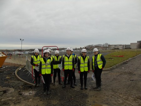 Technical pupils visit the school site - January 2016
