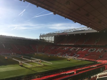 A view from the Sir Alex Ferguson Stand to the famous Stretford End