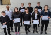 Steve with the Pupils of the Year