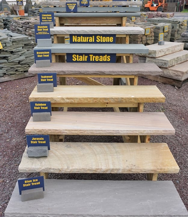Stone Stair Treads 7 Different Stair Tread Options At Wicki Stone   Outdoor Stair Treads For Ice   Non Slip   Carpet Stair   Blue Ice   Anti Slip Stair Nosing   Rubber Stair