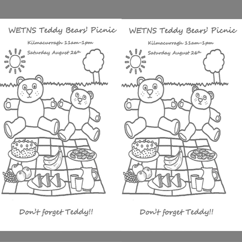 Teddy Bear's Picnic Colouring Sheet