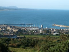 Panoramic shot of Wicklow town and harbour as well as the Murrough/Broadlough, home of Wicklow Rowing Club