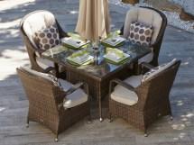 malachi patio wicker 5 piece set