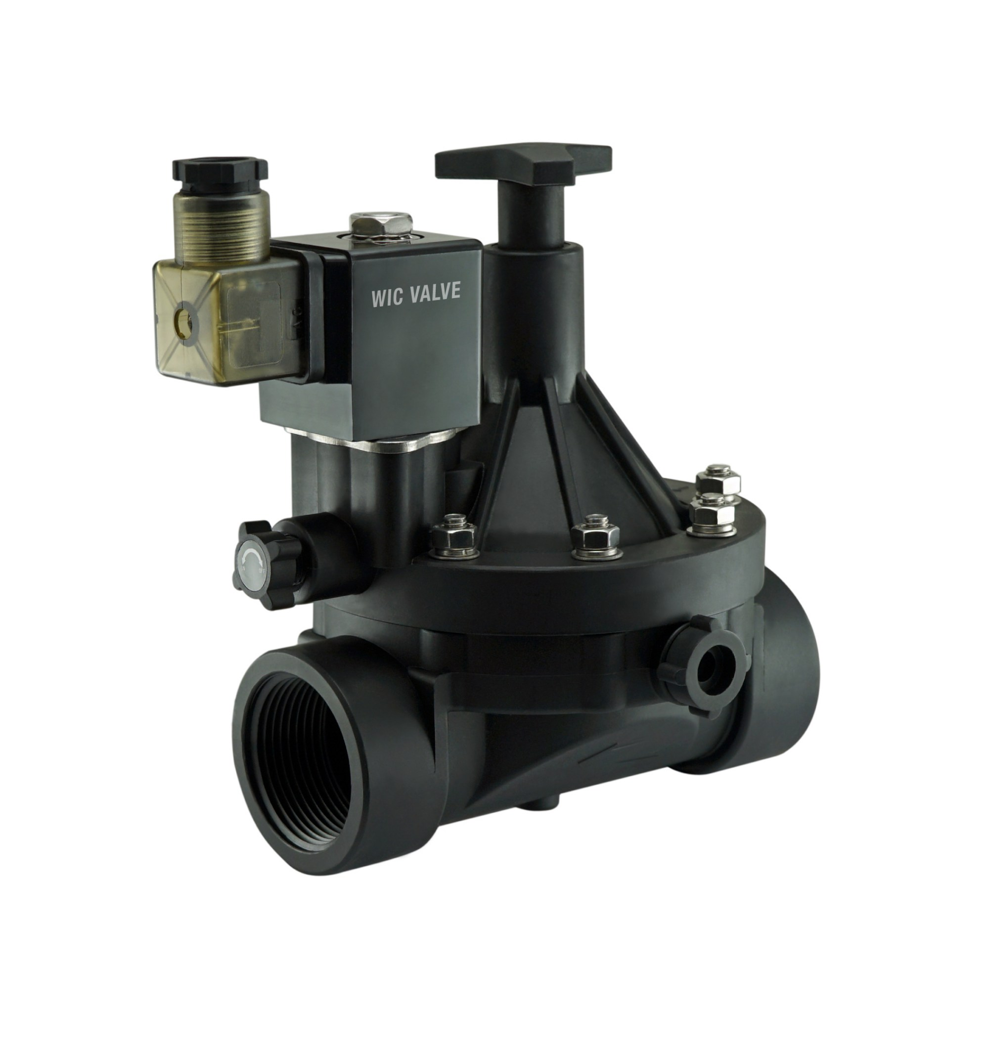 hight resolution of 2 inch plastic flow control manual override electric water valve