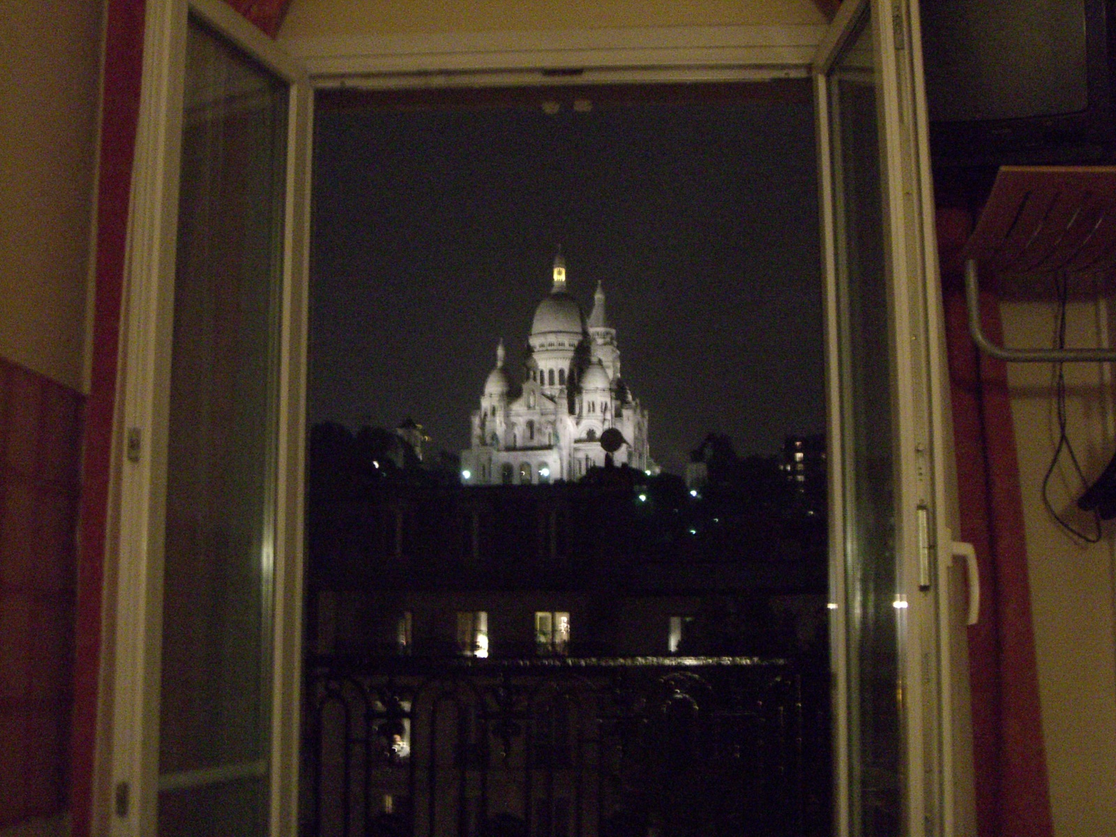 The view of the Sacre Coeur from my room in Paris