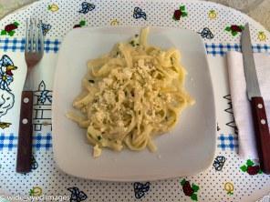 A simple pasta with quesilla.