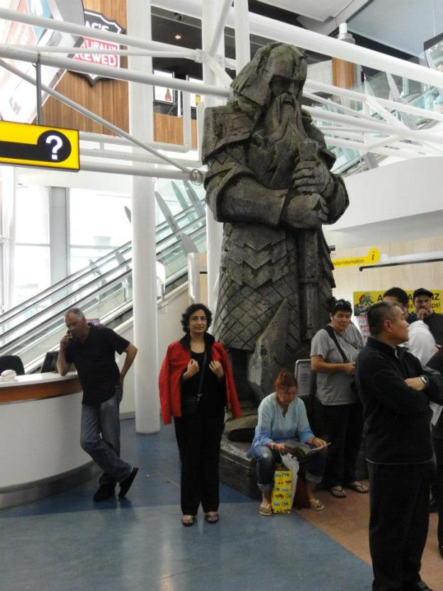 2 A weta workshop dwarf statue at Auckland airport, inspired by Peter Jackson's 'The Hobbit'