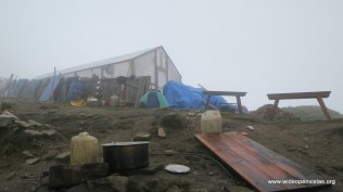 People using their greenhouse as a shelter - Lower Lamjra