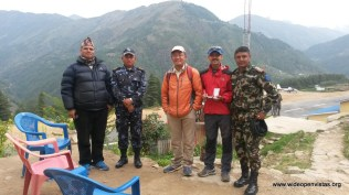 The next morning we checked in with the Chief District Officer, army, and the police and they registered our tarps and destination