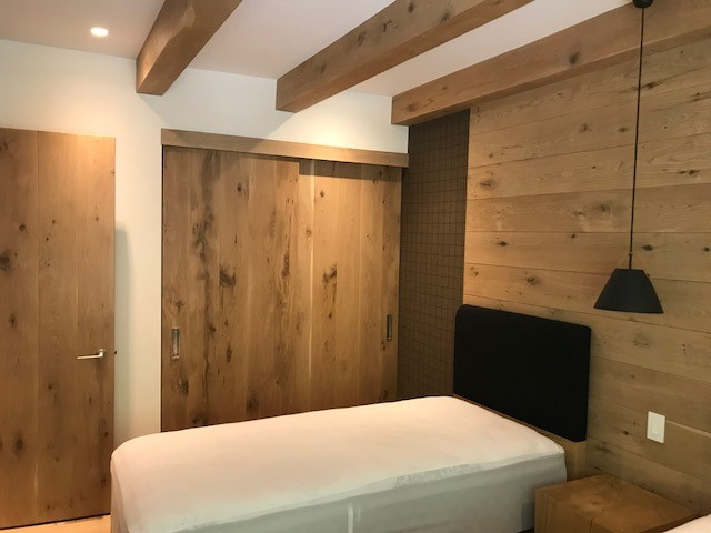 Wide Plank Hardwood  Feature Walls