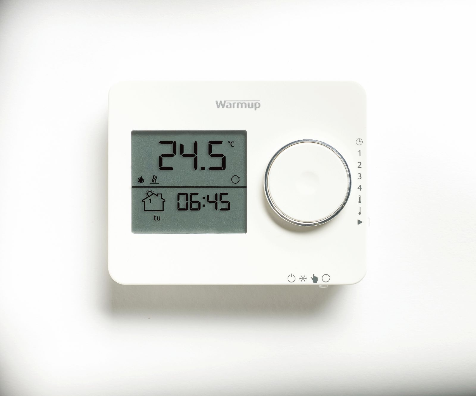 hight resolution of warmup tempo digital thermostat in white or black for underfloor heating systems