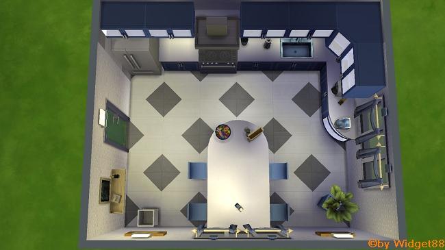 Kochen in Blau