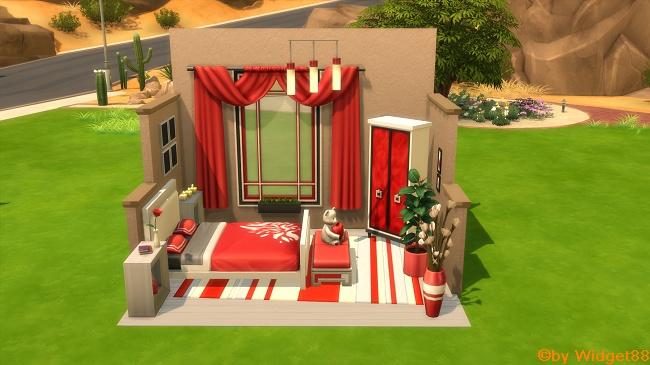 Romantisk Bedroom – IKEA-Communityprojekt von SimFans und AKISIMA