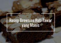 Resep Brownies Roti Tawar yang Manis