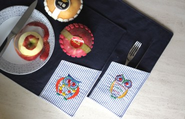 Placemat wls wpm021-022_the owl - SOLD Material : linen Colour : dark blue Length : 44cm Width : 32 cm