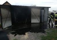 Witunia: Pożar garażu i samochodu wyposażonego w instalacje gazową