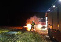 Pożar słomy i ścierniska w Runowie Krajeńskim
