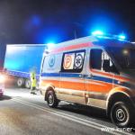 PILNE ! Wypadek Tira z samochodem osobowym. Cztery osoby poszkodowane !