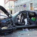 Zderzenie traktora z autem osobowym