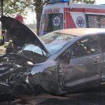 Zderzenie dwóch samochodów osobowych na trasie Zamarte – Doręgowice