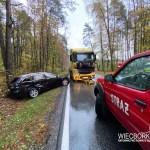 Wypadek w Niechorzu, droga krajowa nr. 25 zablokowana