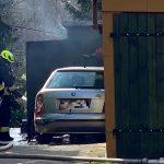 Więcbork: Pożar garażu, w środku znajdował się samochód