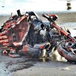 Śmiertelny wypadek na obwodnicy Nakła. Nie żyje motocyklista.