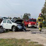 Wypadek w Płoskowie – na miejscu interweniował śmigłowiec LPR