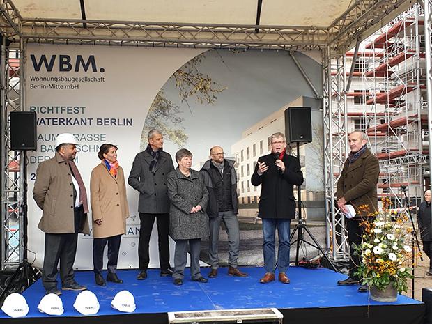 Richtfest Wohnquartier Daumstraße