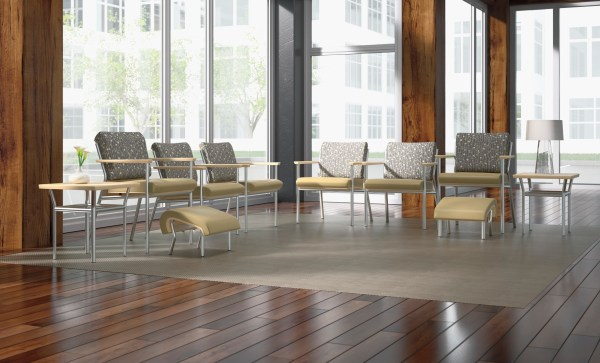 Trace Metal Easy Access Chair - Wieland Healthcare Furniture