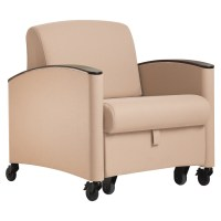 Sleep Chair, with Wood Caps - Wieland Healthcare Furniture