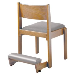 Chair With Kneeler Cigar Lounge Chairs Side Shown Wieland Healthcare Furniture