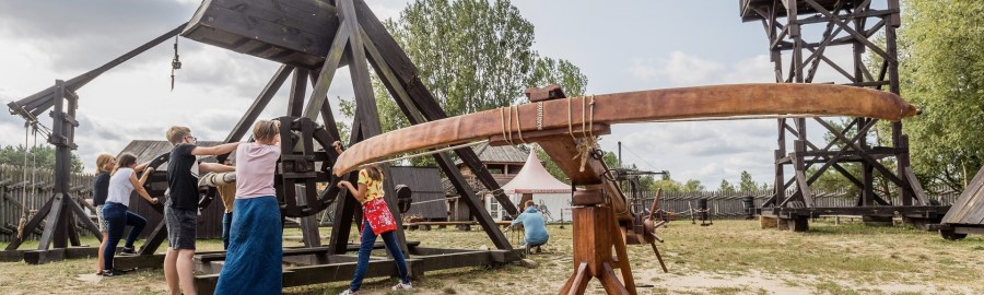 Gród Pobiedziska gigantyczna kusza wałowa