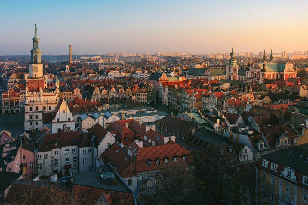 Panorama Poznania z zamku królewskiego