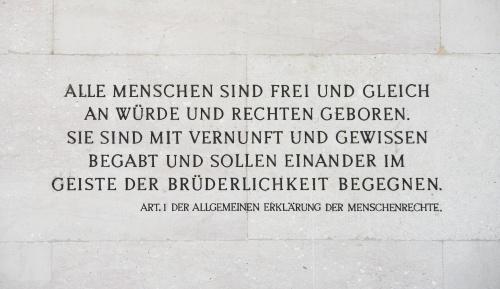 """Ausstellungsbesuch von """"Demokratie, Menschenrechte, Rechtsstaat"""" am 24.9.2019"""