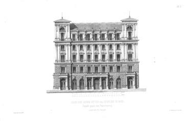 A Palais Ephrussi Ringre néző homlokzata (Allgemeine Bauzeitung)