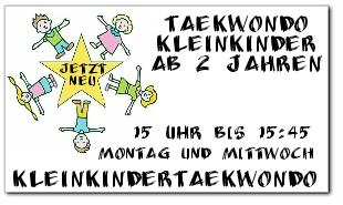 Kleinkindertaekwondo Sticker