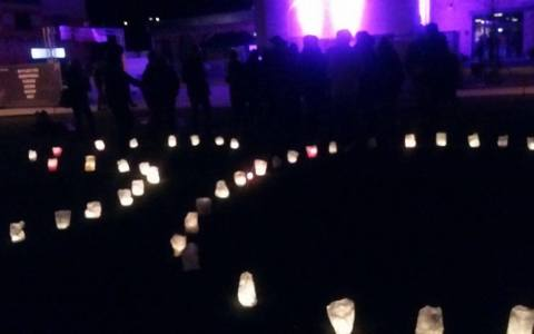 """Earth Hour"" Wiesbaden am Kulturzentrum Schlachthof. Bild: Fernanda di Blasio"
