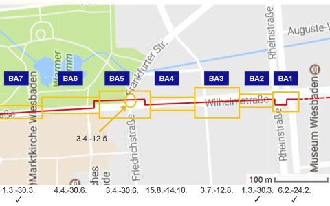 ESWE Fernwärme, drei Bauabschnitte an der Wilhelmstraße sind abgehakt. Bild: ESWE Versorgung