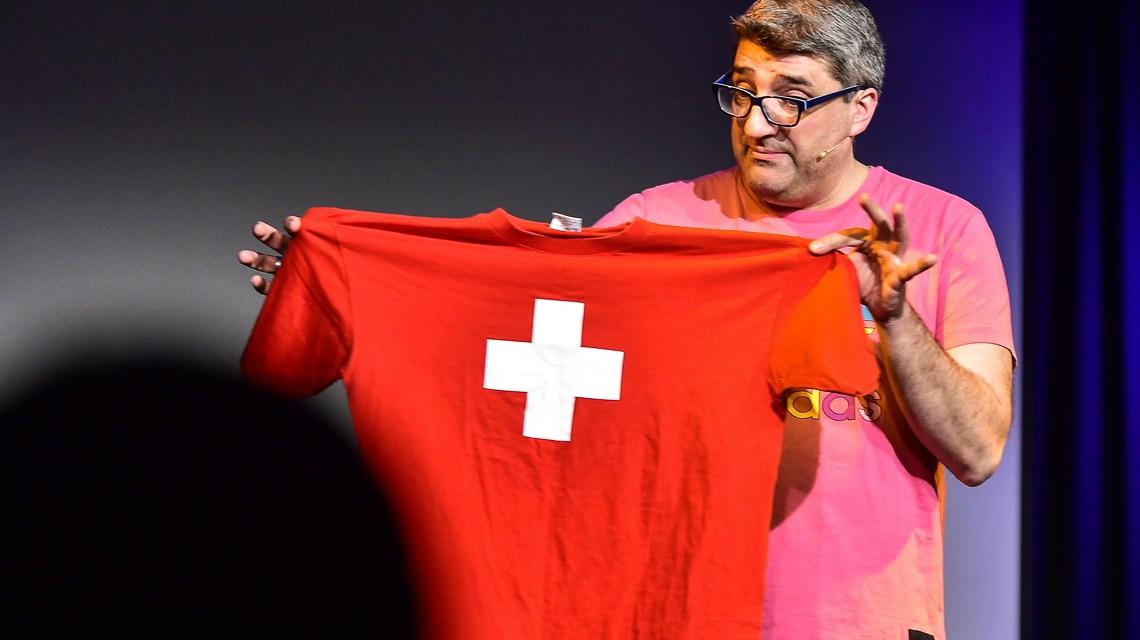 Boris Meinzer ist der FFH-Dummfrager. Hessens bekantester Meinungsforscher ;-). Foti: Volker Watschounek