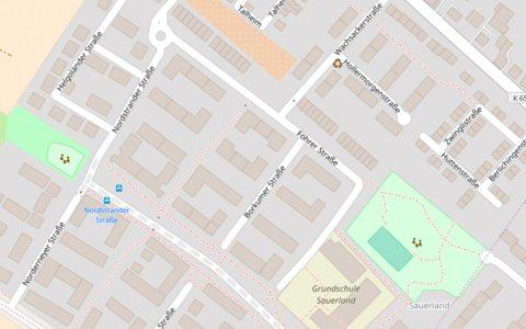 Föhrer Straße, Sauerland Schule – Kartenausschnitt von Open Street