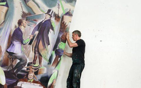 Leo Rauch in seinem Atelier. Bild: neorauch-derfilm.de